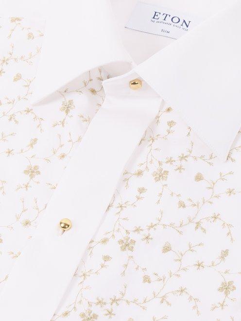 Рубашка из хлопка  с узором - Деталь