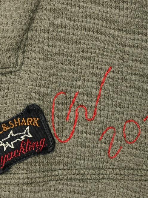 Комбинированная куртка из хлопка - Деталь