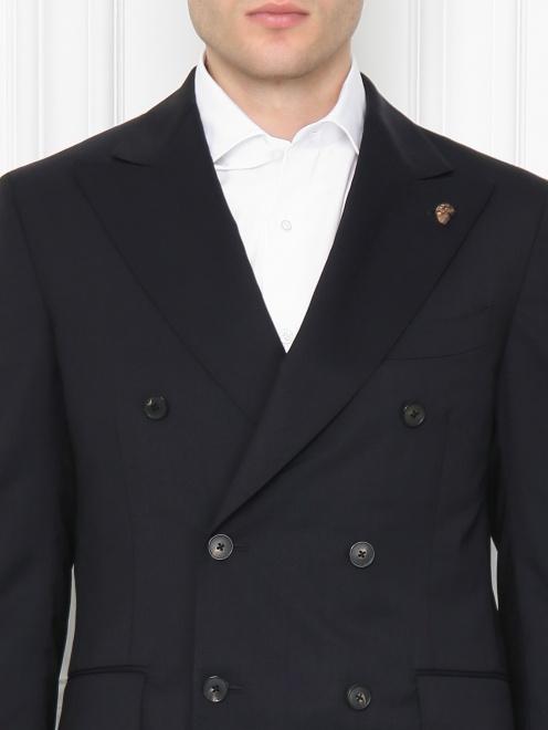 Пиджак двубортный из шерсти - МодельОбщийВид1