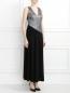 Платье-макси без рукавов Mariella Burani  –  Модель Верх-Низ