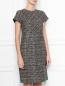 Платье-футляр из шерсти Brooks Brothers  –  МодельВерхНиз
