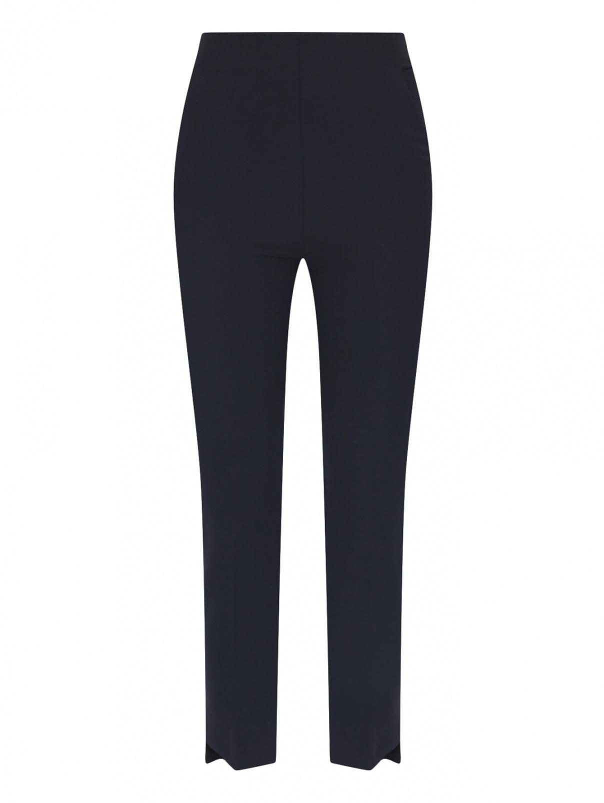 Укороченные брюки с боковыми карманами Beatrice  –  Общий вид  – Цвет:  Синий