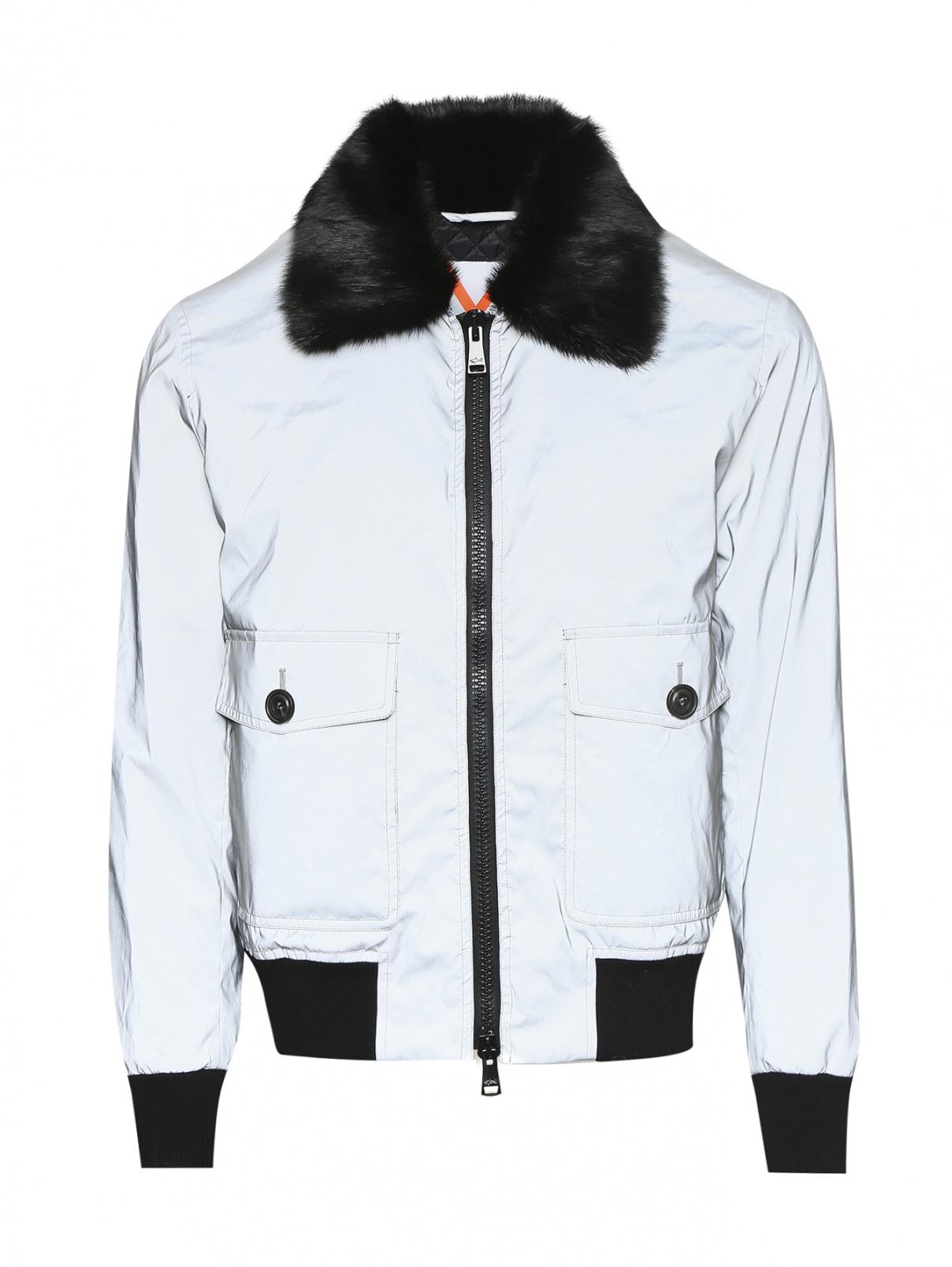 Куртка на молнии со светоотражающим элементом Paul&Shark  –  Общий вид  – Цвет:  Серый