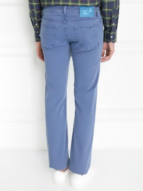 Брюки джинсового кроя из хлопка - Модель Верх-Низ1