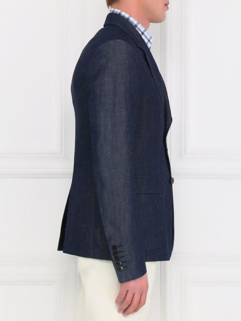 Пиджак однобортный из денима - Модель Верх-Низ2