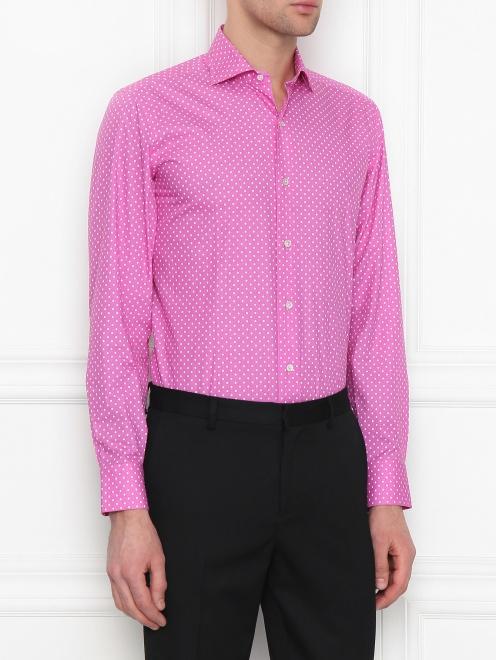 Рубашка из хлопка с узором - МодельВерхНиз