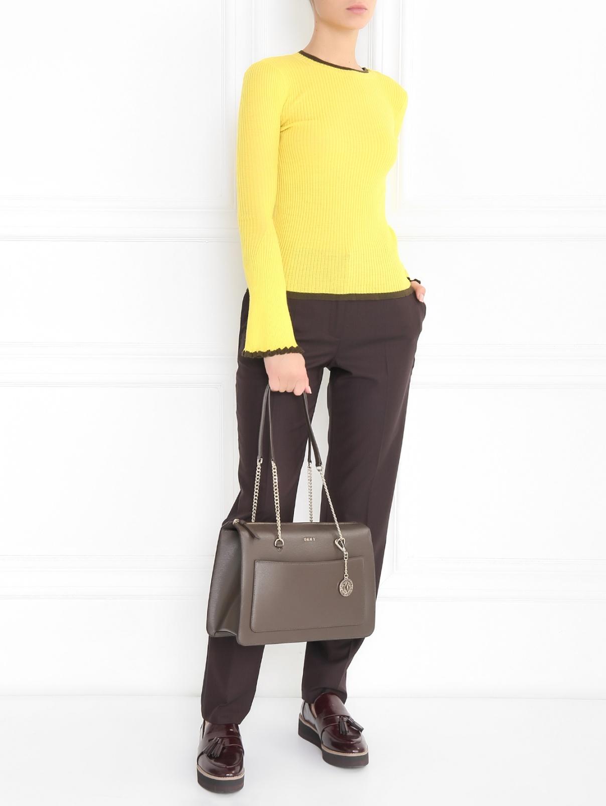 Джемпер из шерсти с контрастной отделкой Mo&Co  –  Модель Общий вид