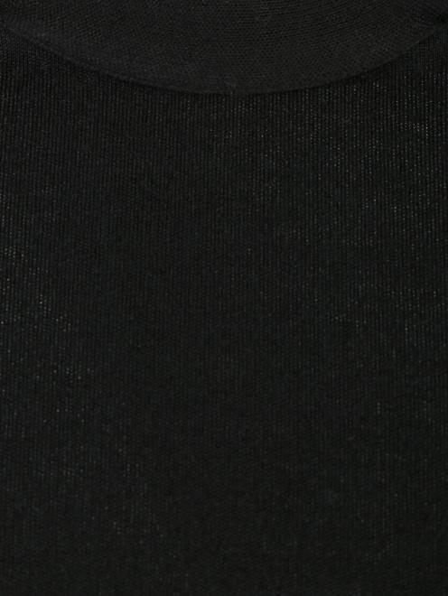 Трикотажный жилет из хлопка и шелка - Деталь