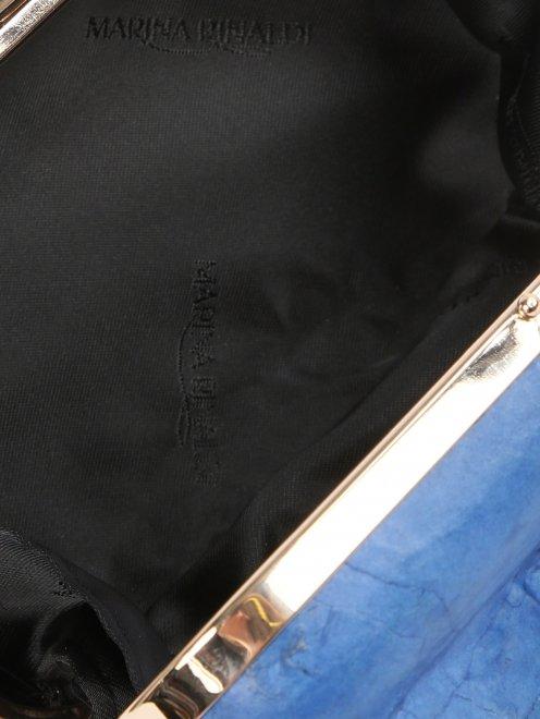 Клатч с геометрическим узором на ремне-цепочке - Деталь1