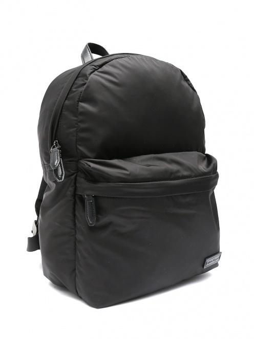 Рюкзак дутый из нейлона  - Обтравка1