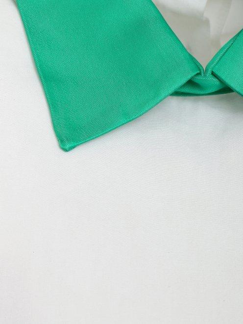 Рубашка из хлопка с декором  - Деталь