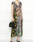 Платье-миди из шелка с узором 3.1 Phillip Lim  –  МодельОбщийВид