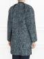 Пальто из смешанной шерсти с узором Cedric Charlier  –  Модель Верх-Низ1