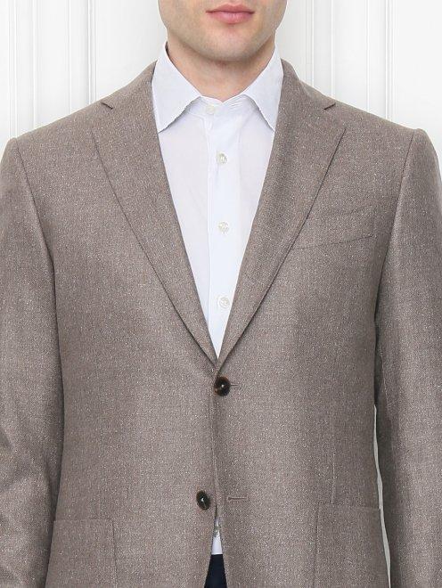 Пиджак из шелка и шерсти - МодельОбщийВид1