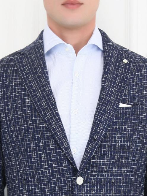 Пиджак с узором из шерсти и шелка - Модель Общий вид1