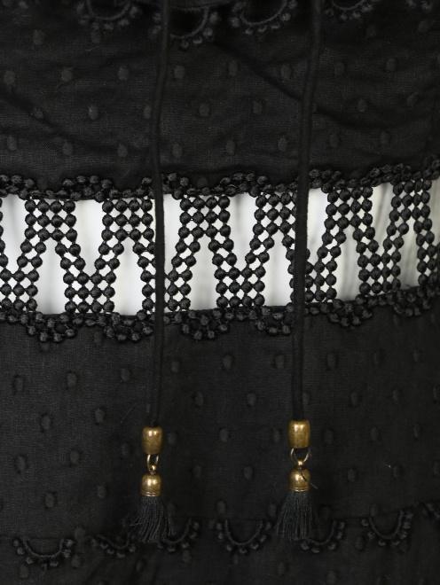Платье из хлопка, с отделкой кружевом - Деталь