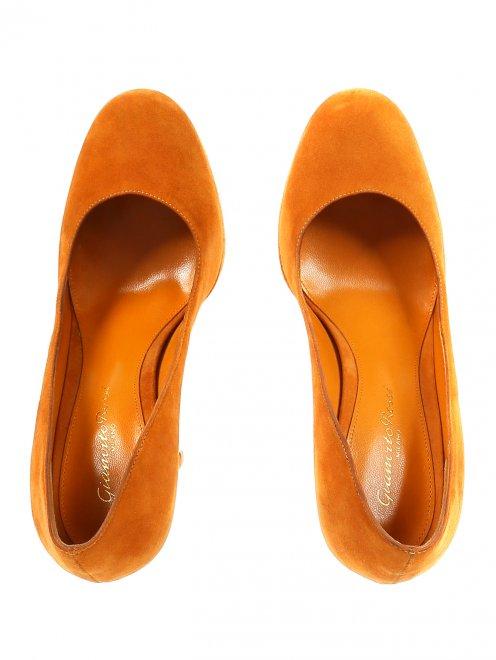 Туфли из замши на высоком каблуке - Обтравка4