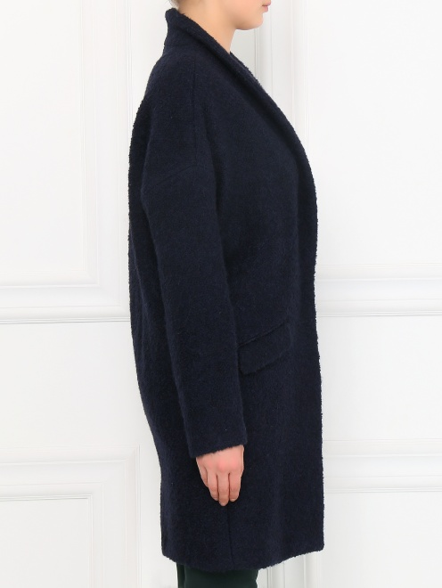 Пальто свободного кроя с накладными карманами - Модель Верх-Низ2