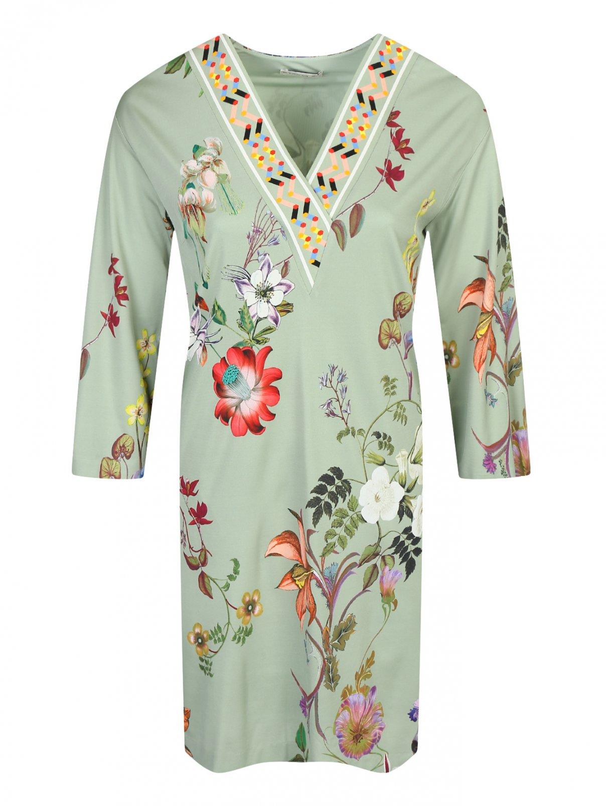 Платье свободного кроя с цветочным узором Etro  –  Общий вид