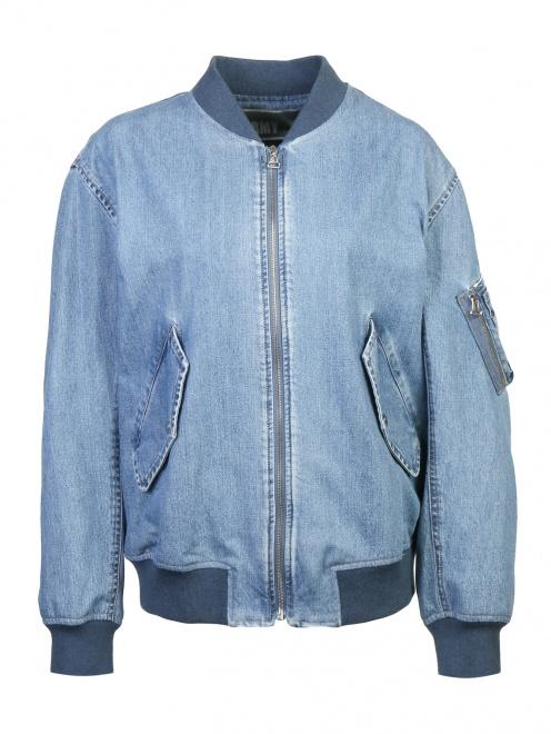 Куртка из денима на молнии - Общий вид