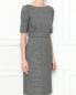 Платье-футляр из шерсти с короткими рукавами Brooks Brothers  –  МодельВерхНиз