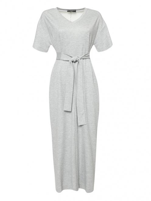 Платье свободного кроя с V-образным вырезом - Общий вид