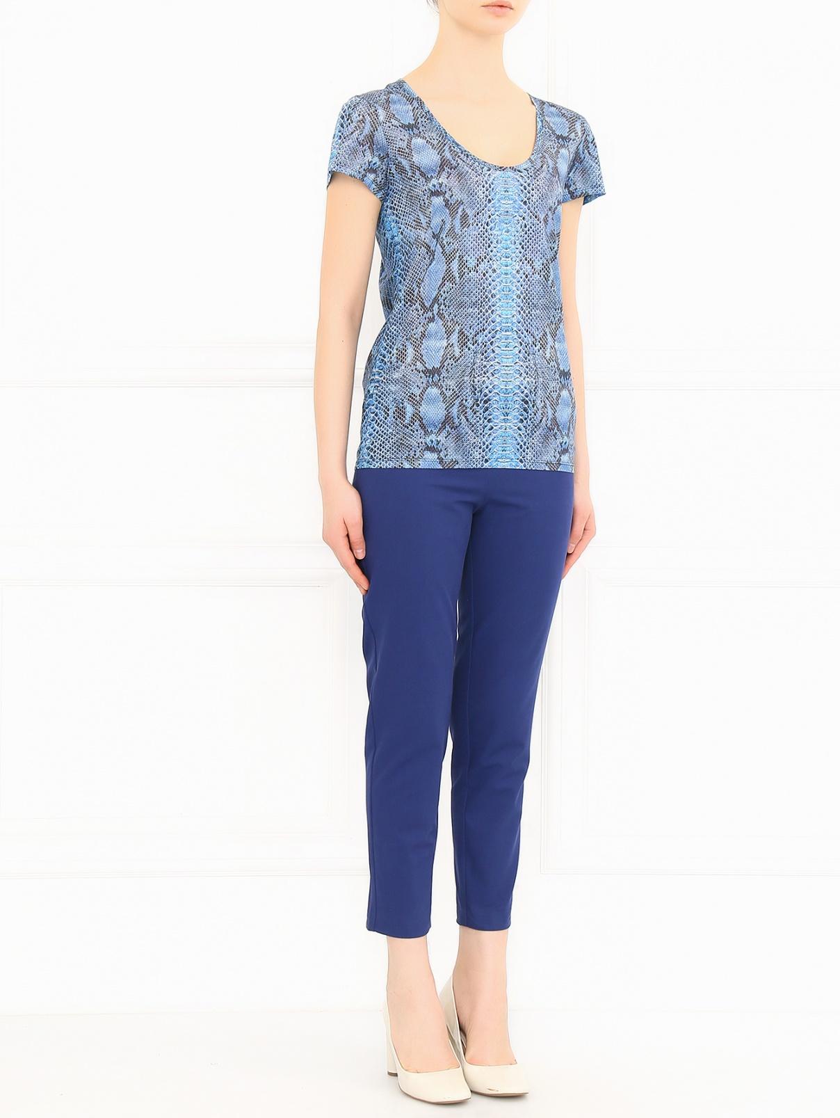 Укороченные брюки из хлопка Love Moschino  –  Модель Общий вид