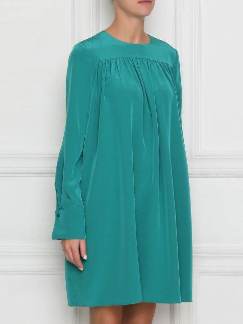 Платье свободного кроя с драпировкой - МодельВерхНиз