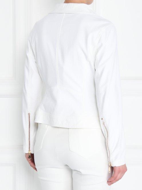 Куртка-косуха из эластичного денима - МодельВерхНиз1