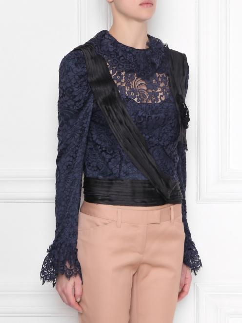 Кружевная блуза с декором - МодельВерхНиз