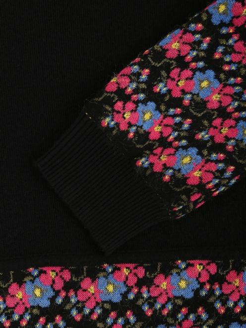Джемпер с цветочным узором - Деталь