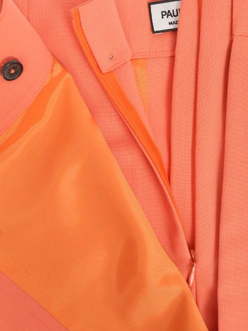Шорты-юбка из смешанной шерсти - Деталь1