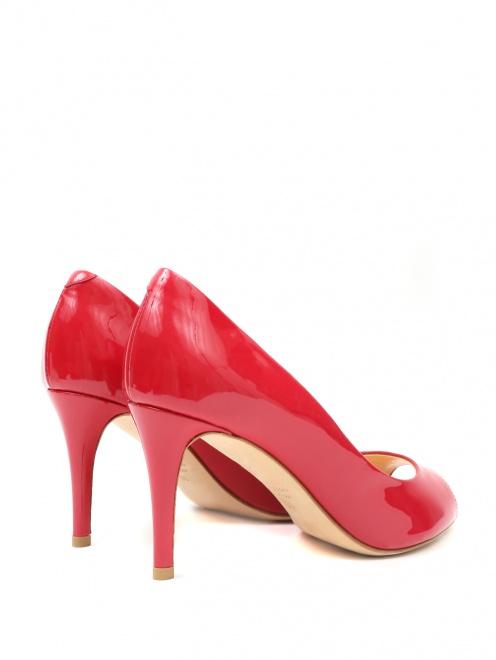 Туфли из лаковой кожи с открытым носом - Обтравка2