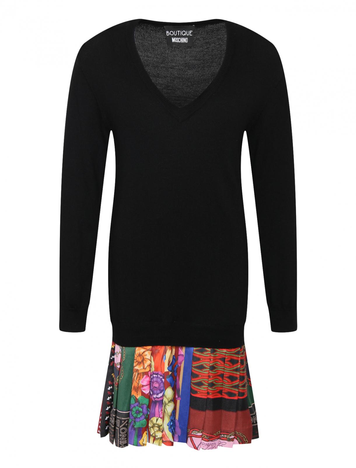 Трикотажное платье с контрастной отделкой Moschino Boutique  –  Общий вид