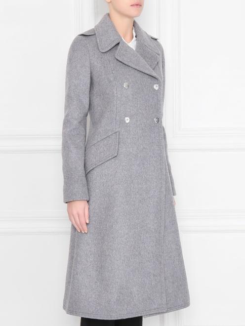 Пальто двубортное, из шерсти - МодельВерхНиз