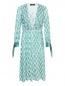 Платье из шелка с бархатной отделкой Elisabetta Franchi  –  Общий вид