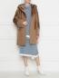 Пальто из шерсти и искусственного меха DROMe  –  МодельОбщийВид