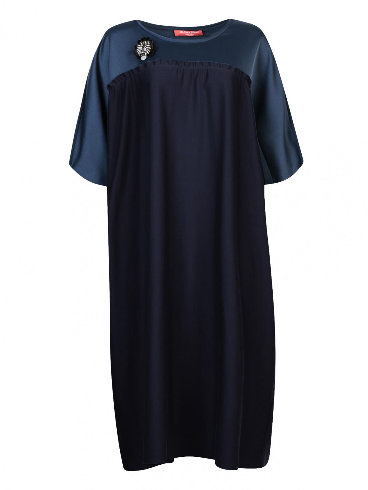 Платье свободного кроя с короткими рукавами Marina Rinaldi  –  Общий вид