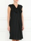 Платье из шелка с декоративным бантом Alberta Ferretti  –  Модель Верх-Низ