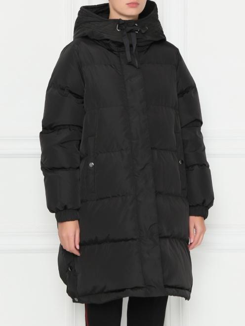 Стеганая куртка оверсайз - МодельВерхНиз
