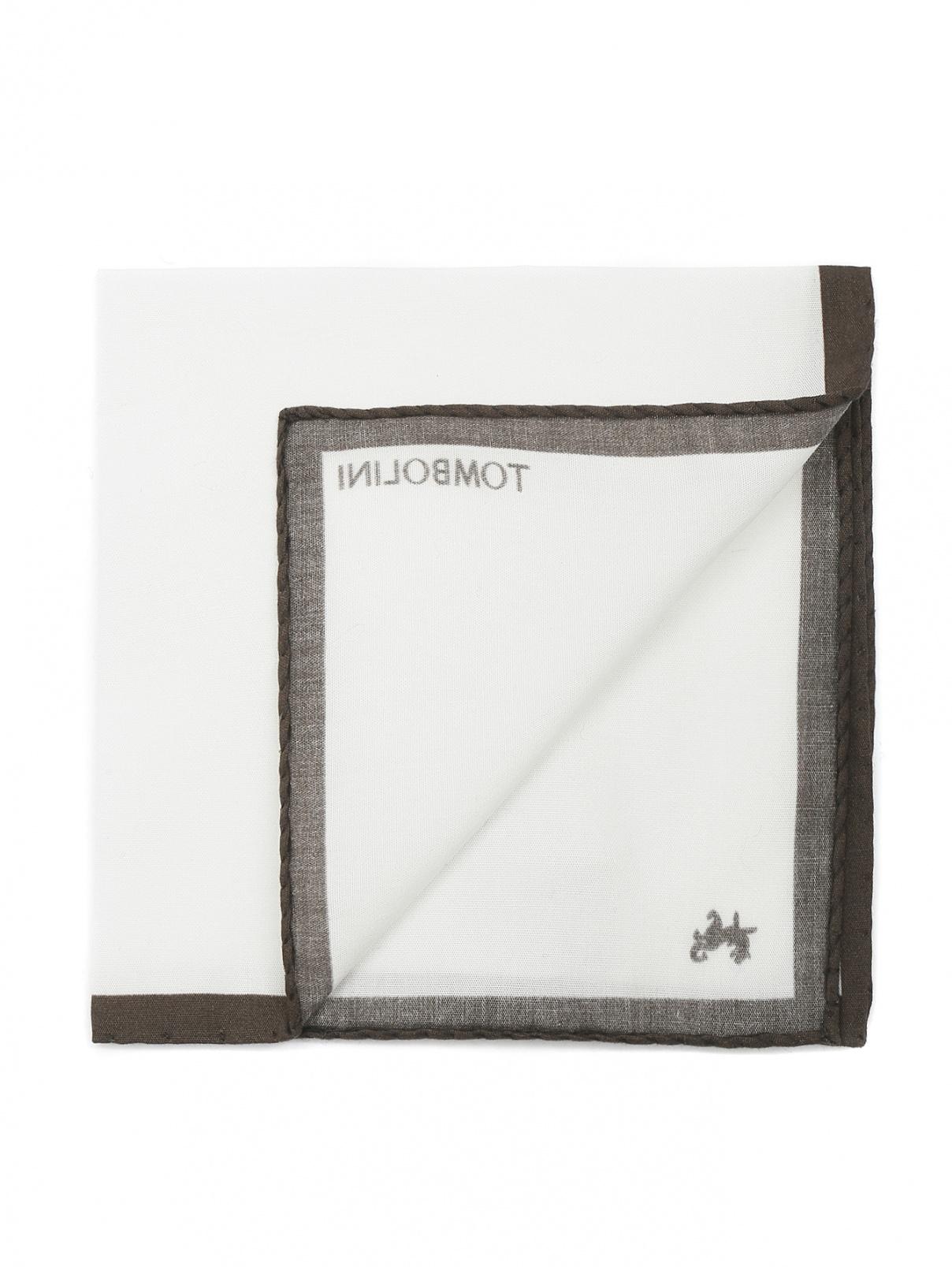 Платок из хлопка Tombolini  –  Общий вид  – Цвет:  Белый