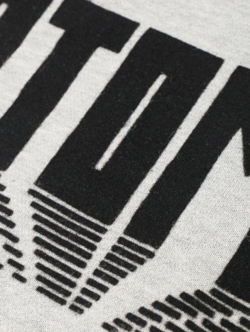 Свитшот из хлопка с принтом - Деталь