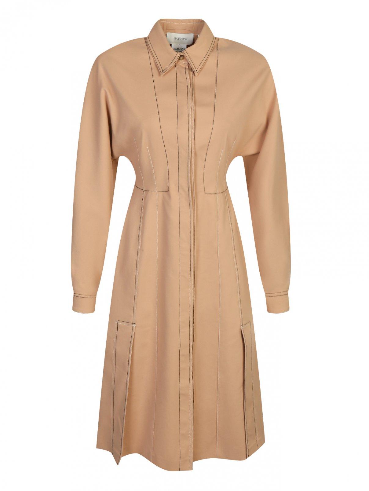 Платье из хлопка с контрастной отделкой Sportmax  –  Общий вид
