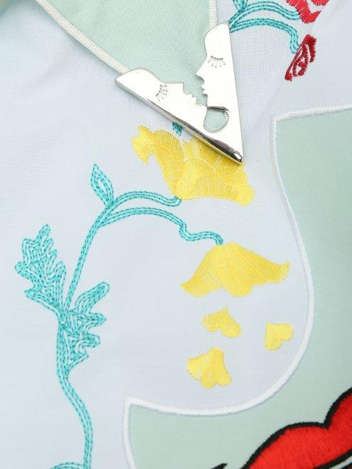 Блуза из хлопка с вышивкой - Деталь