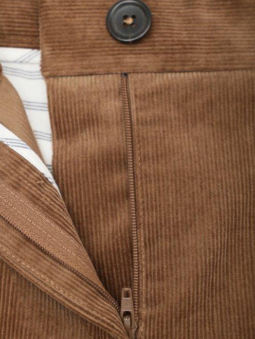 Вельветовые брюки из хлопка прямого кроя - Деталь1