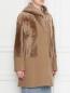 Пальто из шерсти и искусственного меха DROMe  –  МодельВерхНиз