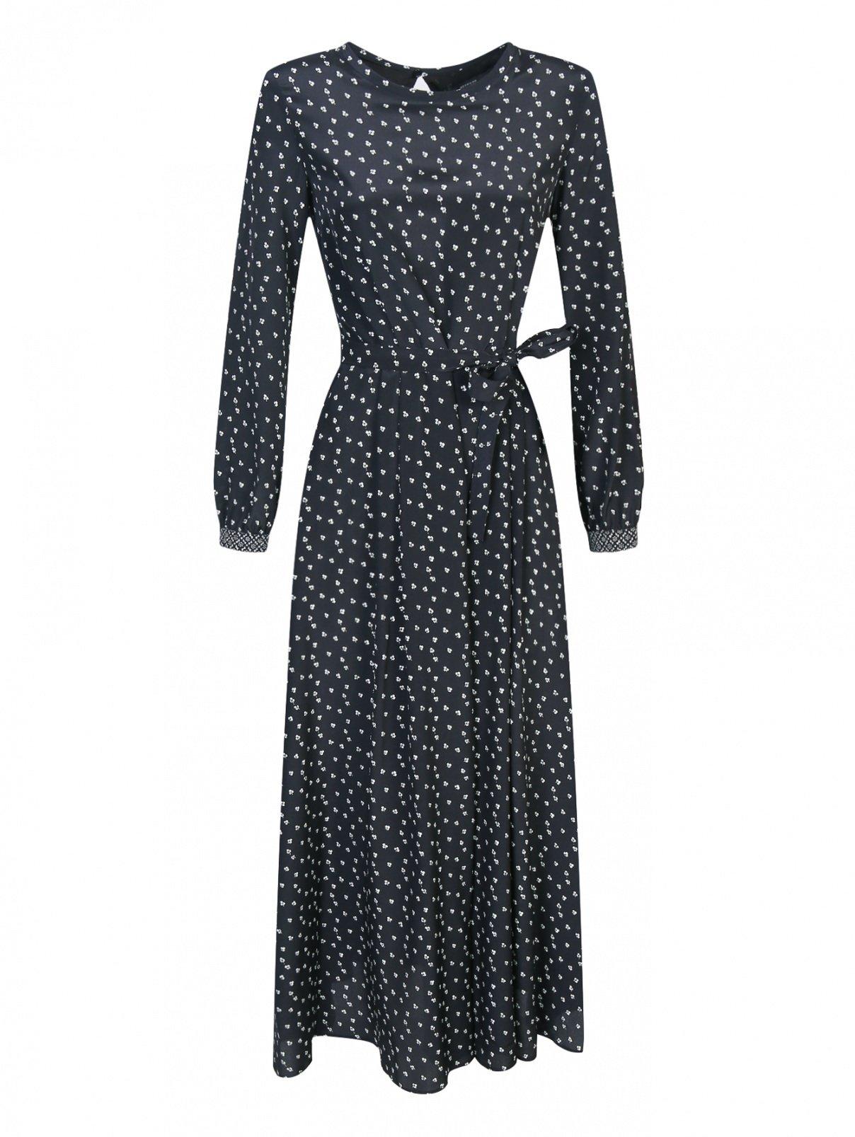 Платье-миди из шелка с узором Weekend Max Mara  –  Общий вид