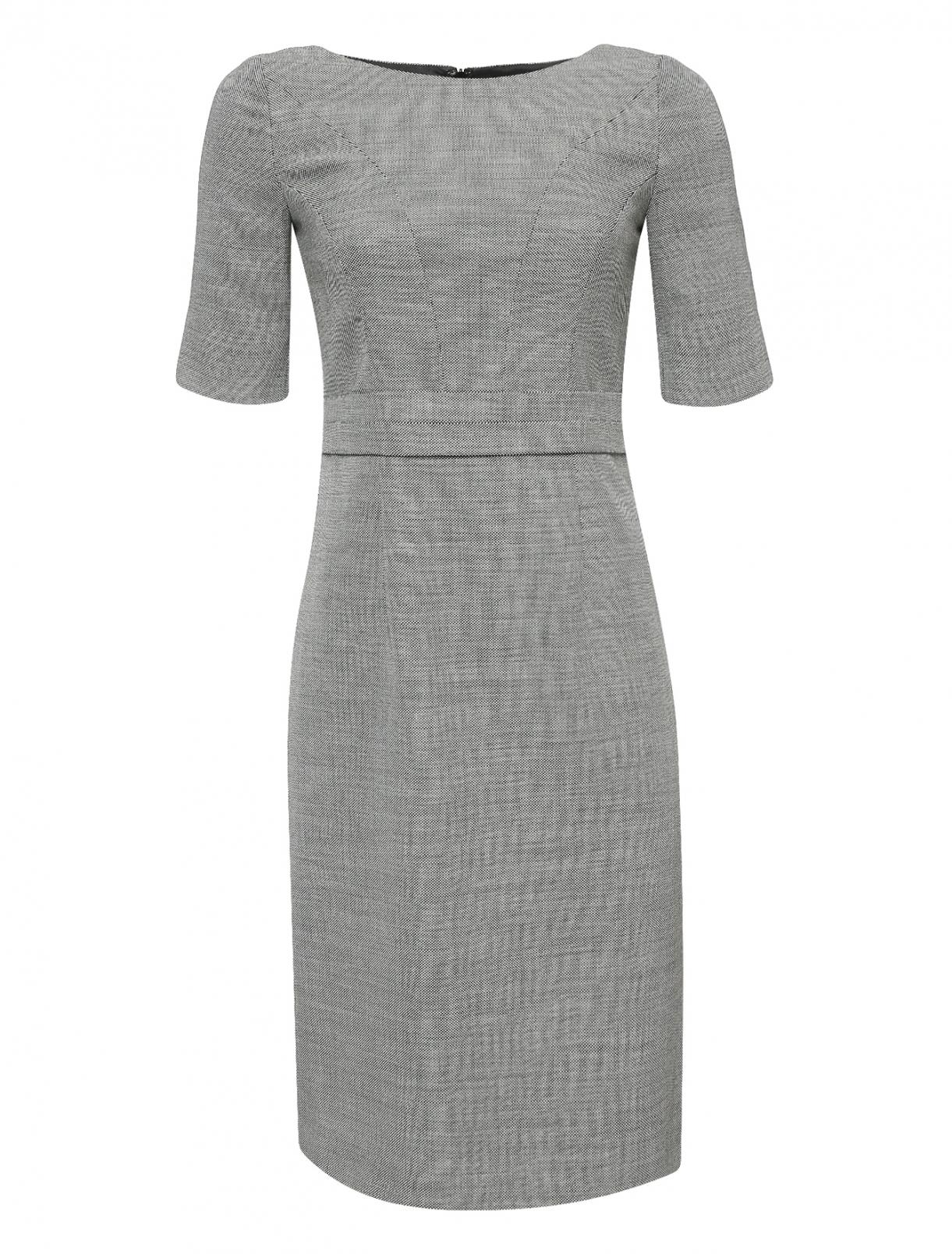 Платье-футляр из шерсти с короткими рукавами Brooks Brothers  –  Общий вид