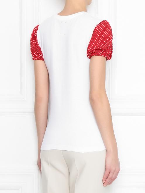 Блуза из хлопка с принтом - МодельВерхНиз1