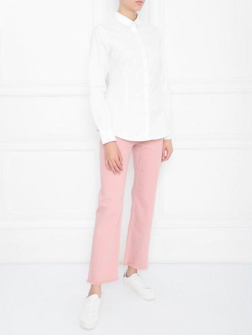 Укороченные джинсы из хлопка - МодельОбщийВид